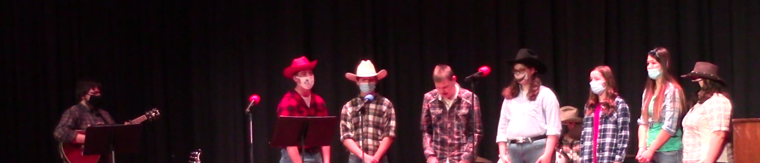Students on stage at Dessert Concert