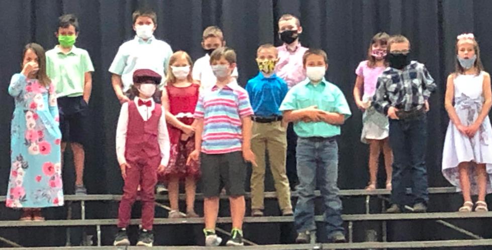 2nd grade class singing