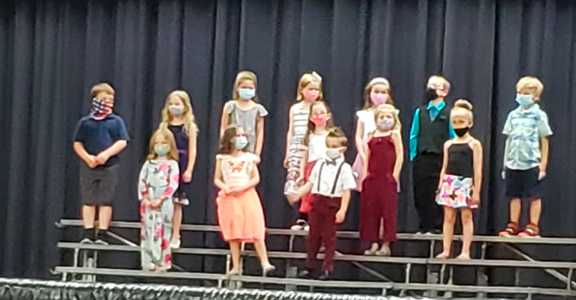 Kindergarten singing at concert