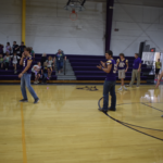Boys FB playing volleyball
