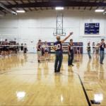 Girls VB vs Boys FB in volleyball