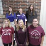 HS girls dressed up for twin day