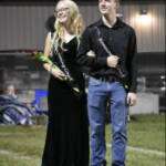 Canidates Lexie and Clay on the field