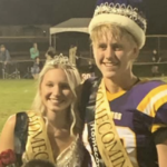 Homecoming king and queen Abbe and Avery