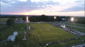 Drone shot of the Homecoming game 9/17/21
